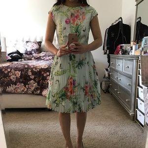 Ted Baker belted floral dress size 0
